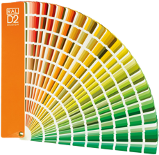muestrario de colores RAL D2