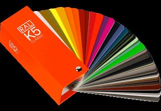 muestrario de colores RAL K5 semi matt